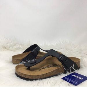 Birkenstock Gizeh Black Cork Thong Sandals NWOT